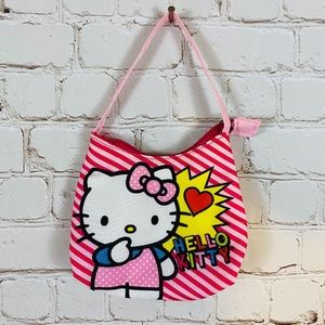 Hello Kitty | Girls Purse Bag Pink Striped